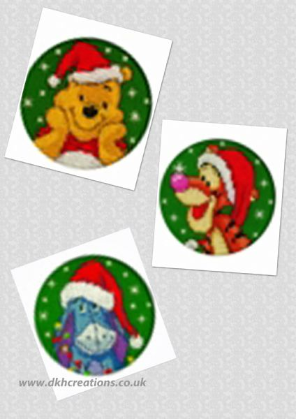 Disney Winnie The Pooh  Eeyore & Tigger In Santa Hat Cards Cross Stitch Kit